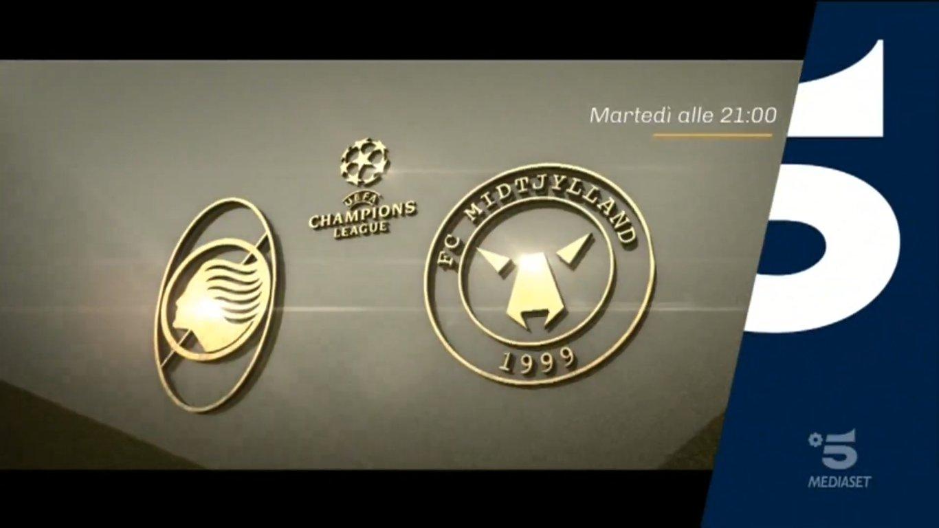 Champions, Atalanta - Midtjylland Diretta Canale 5, Telecronisti Sport Mediaset