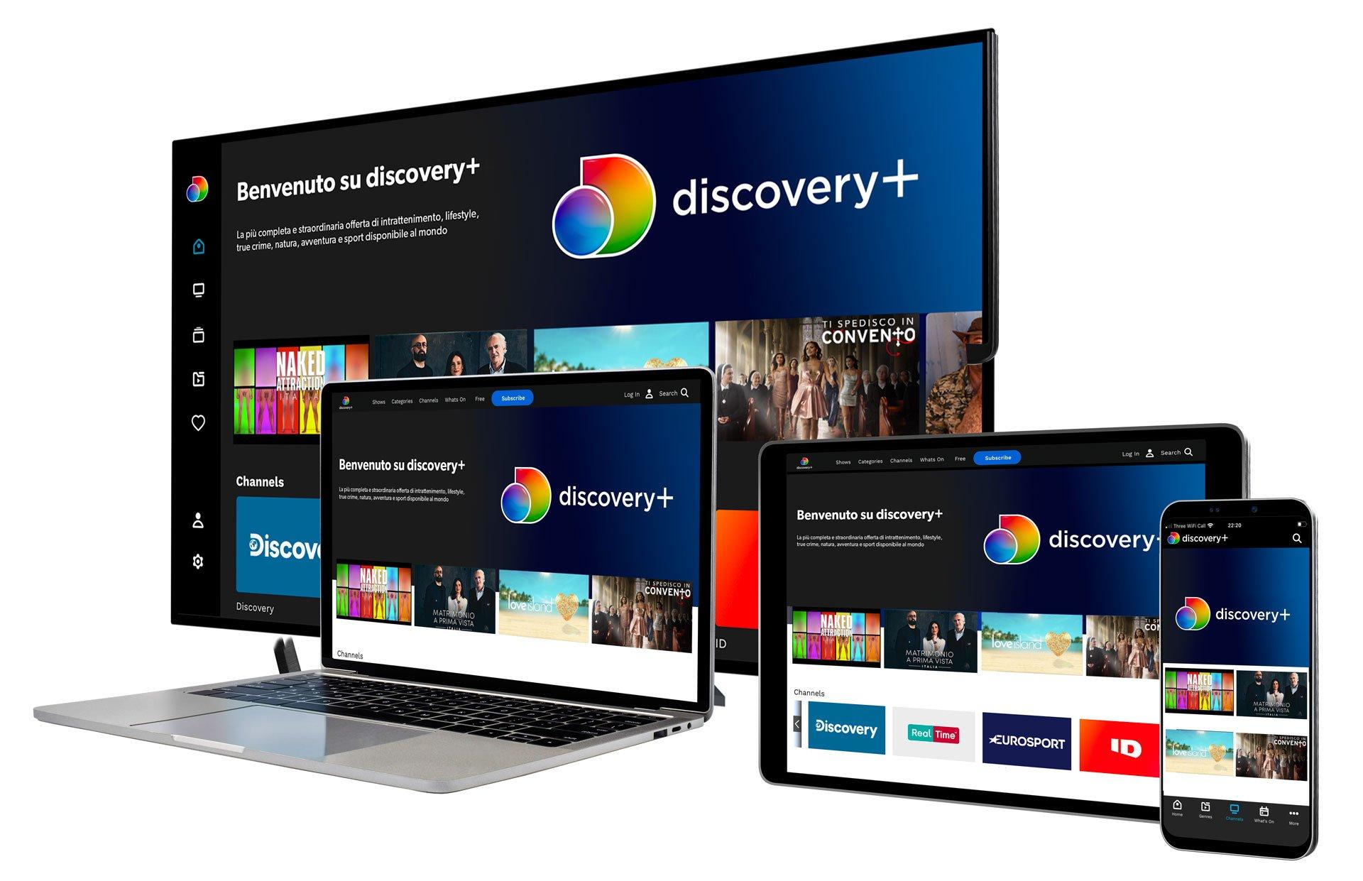Discovery+, il nuovo servizio streaming (anche in Italia) dal 4 Gennaio 2021