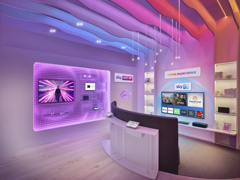 Sky apre la sua rete di negozi nel centro delle principali città italiane