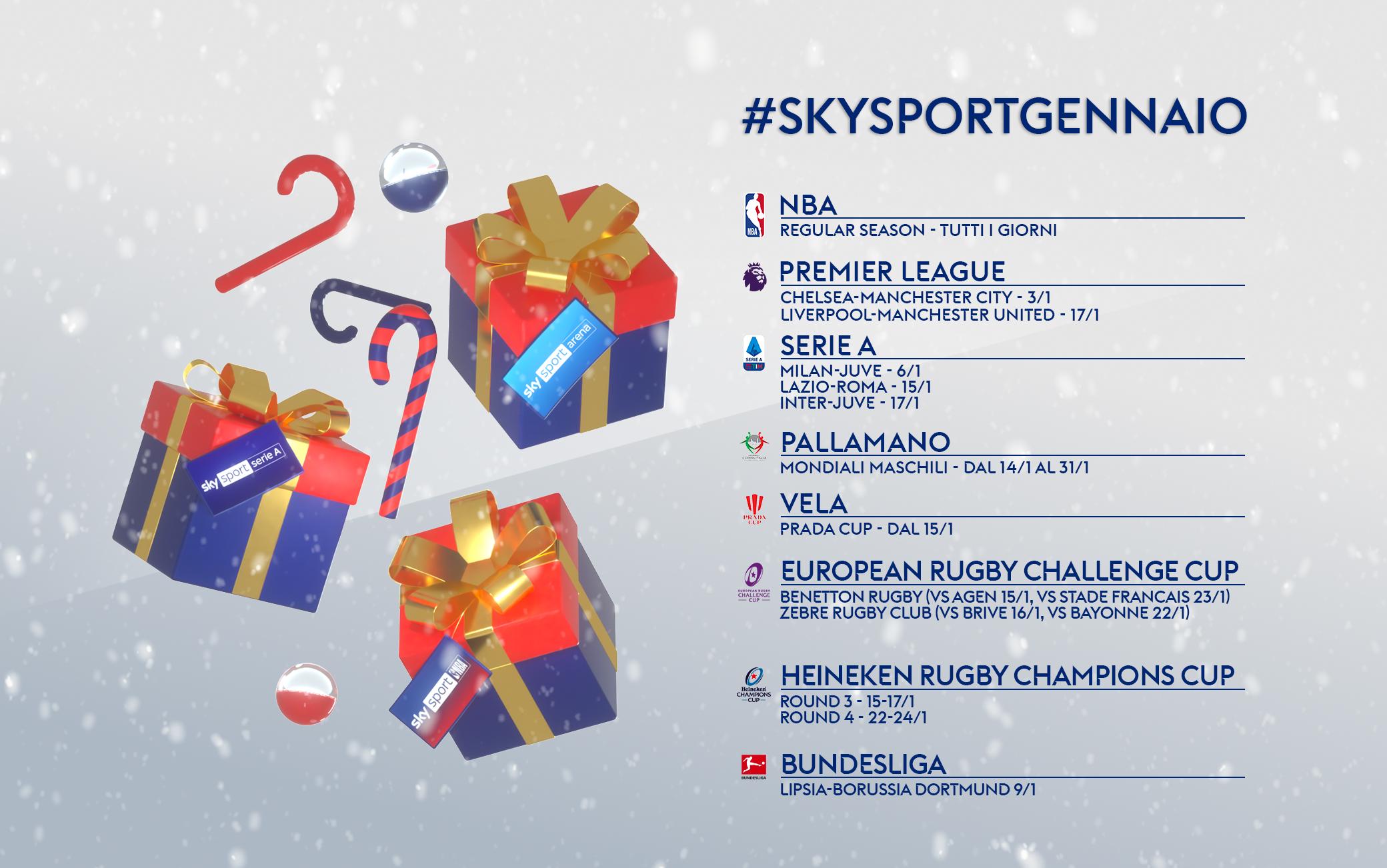 Gennaio 2021 su Sky Sport, tanti gli eventi da non perdere