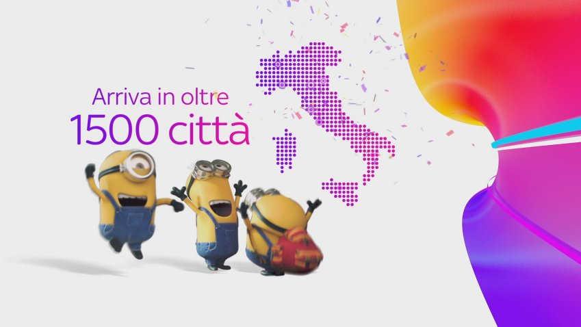 I Minions protagonisti della nuova campagna Sky Wifi. Semplice, potente, spettacolare.