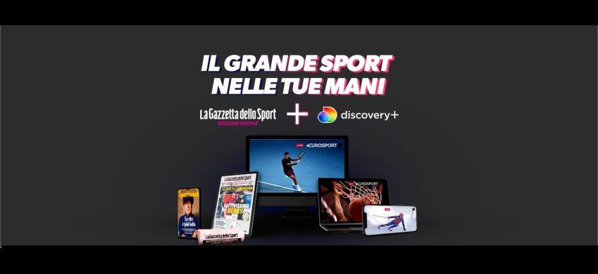 Nasce offerta bundle Gazzetta dello Sport Digital e Discovery+ (con Eurosport)