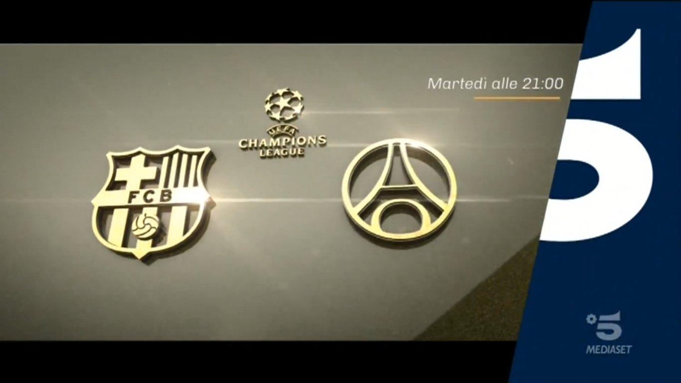 Champions, Barcellona - PSG Diretta Canale 5, Telecronisti Sport Mediaset