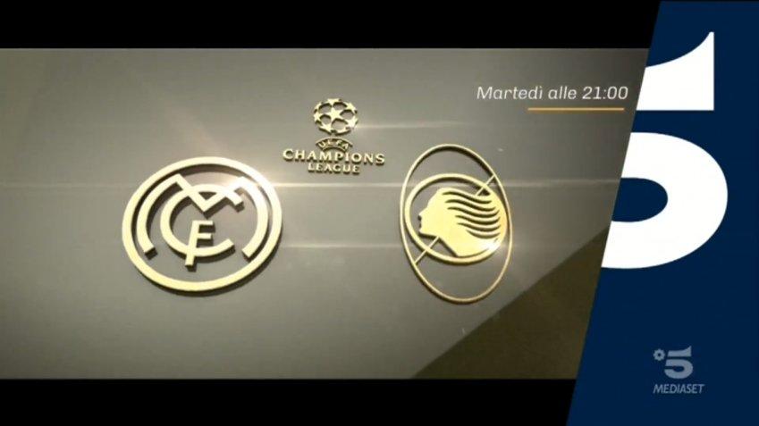 Champions, Real Madrid Atalanta, Diretta Canale 5, Telecronisti Sport Mediaset