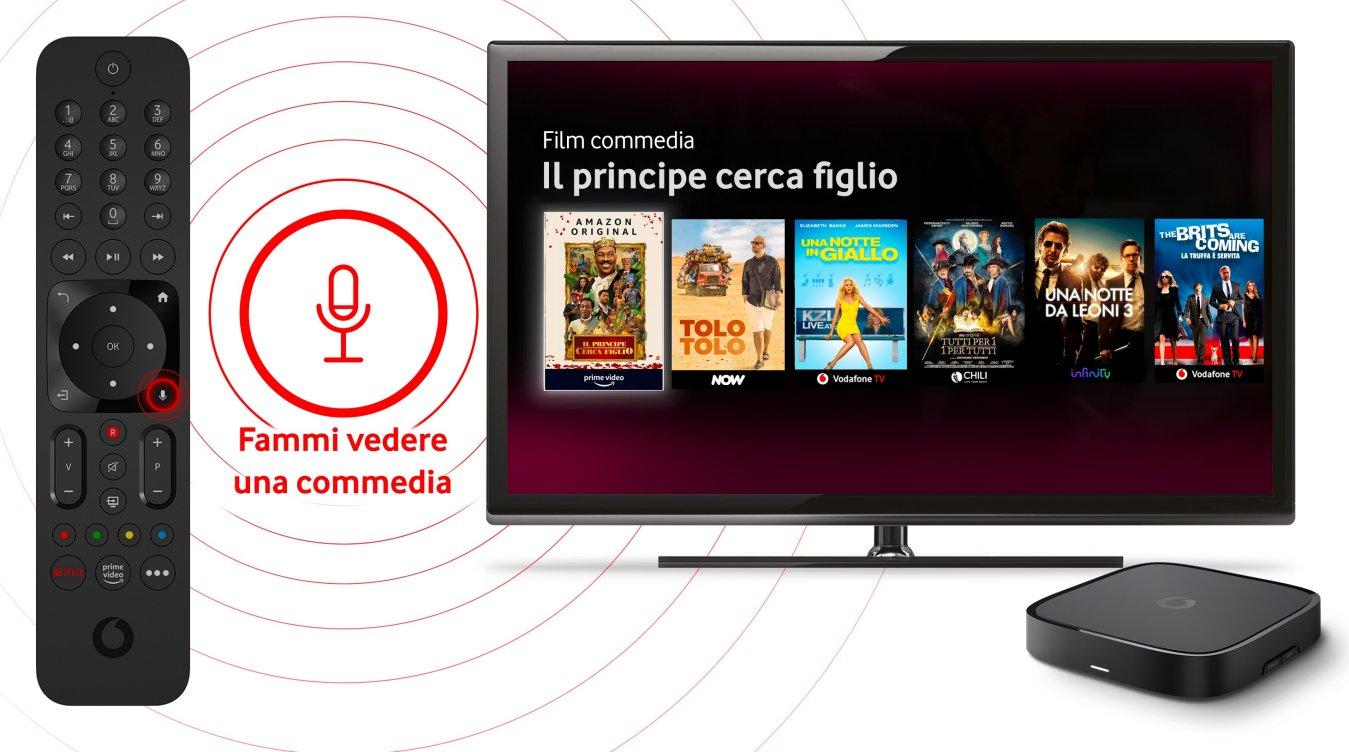 Vodafone lancia il nuovo TV BOX PRO con controllo vocale e interfaccia rinnovata