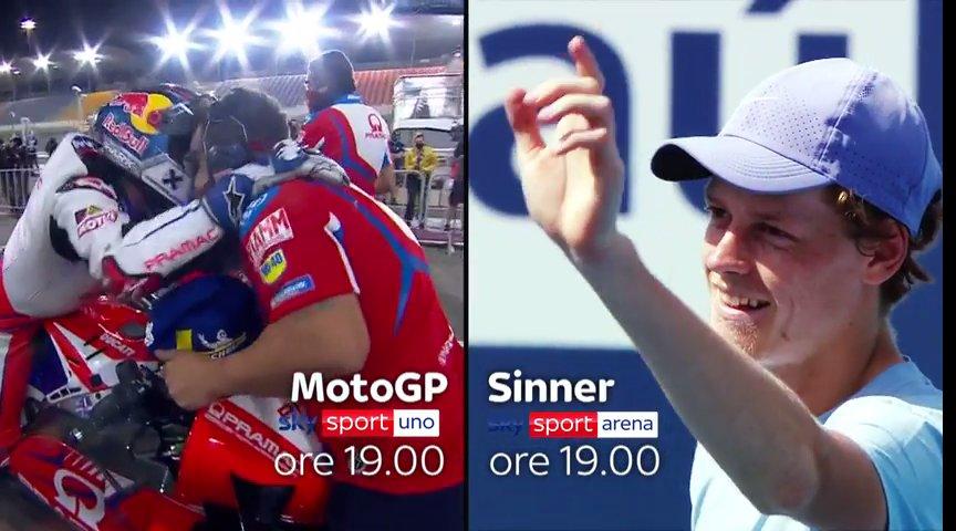 MotoGP Doha o ATP Miami con Sinner? Entrambi con Sky Sport Split Screen!