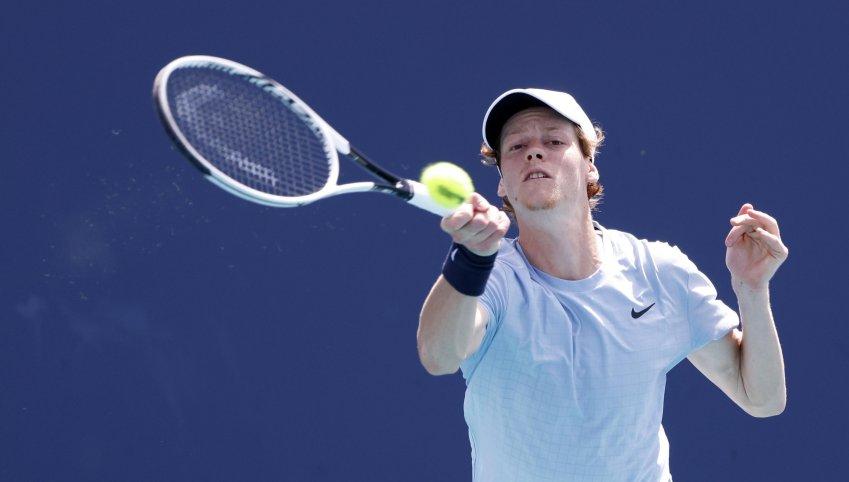 Sinner a Miami su Sky Sport, secondo risultato assoluto per il tennis