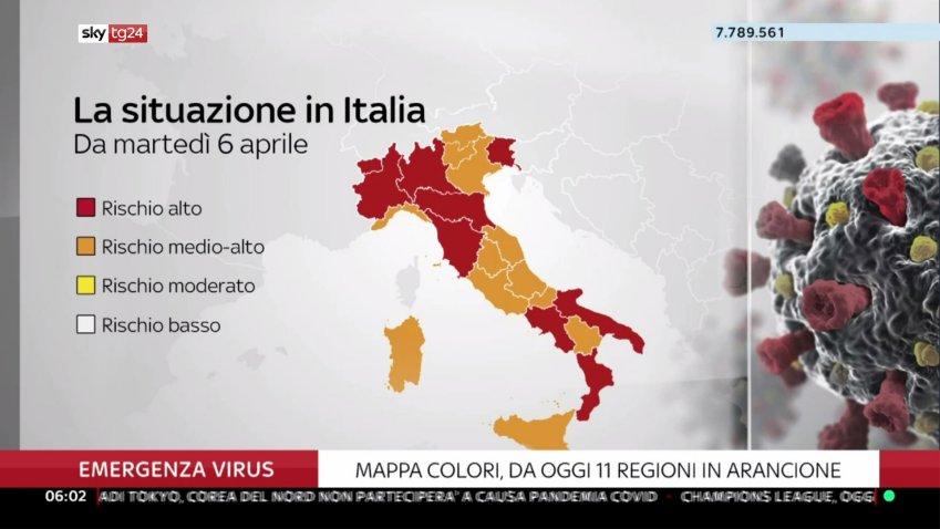 On air su Sky TG24 il contatore delle persone vaccinate in Italia