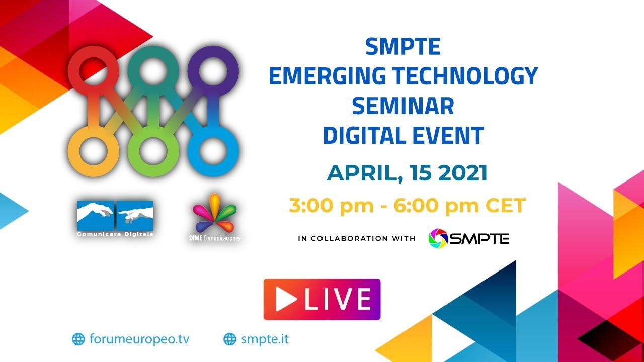 Seminario SMTPE Italia - Tecnologie Emergenti in diretta su Digital-News.it