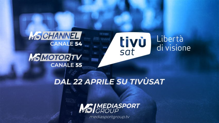 Tivùsat, arrivano i due canali satellitari sportivi di Mediasport Group