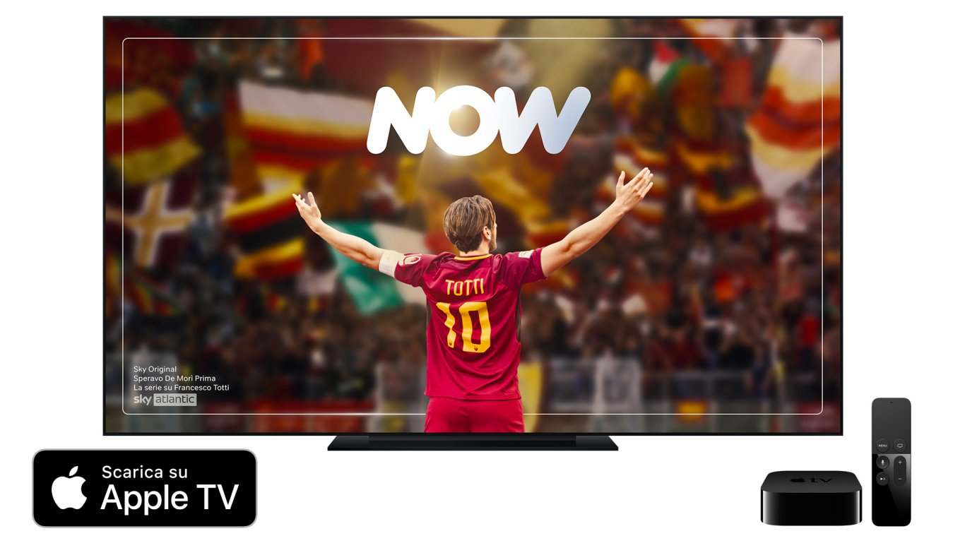 NOW disponibile anche sui dispositivi Apple TV di quarta generazione