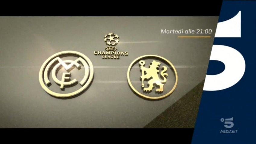 Champions, Real Madrid Chelsea Diretta Canale 5, Telecronisti Sport Mediaset