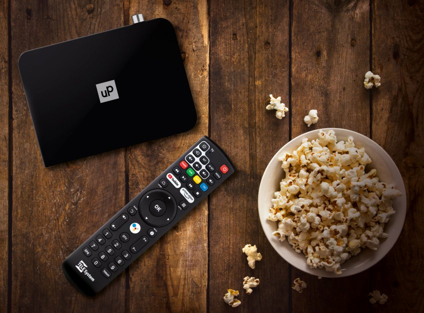 ** TELE System UP T24K AndroidTV™ DVB-T/T2 Smartbox **