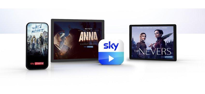 Sky Go è sempre più utilizzata, più di 600 milioni di video views nel 2020