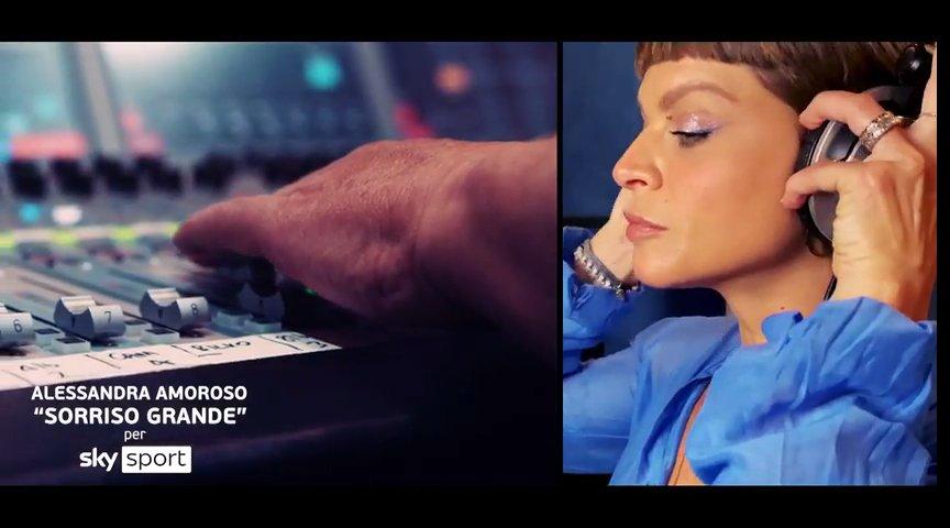 #SkyEuro2020 canta «Sorriso Grande» di Alessandra Amoroso