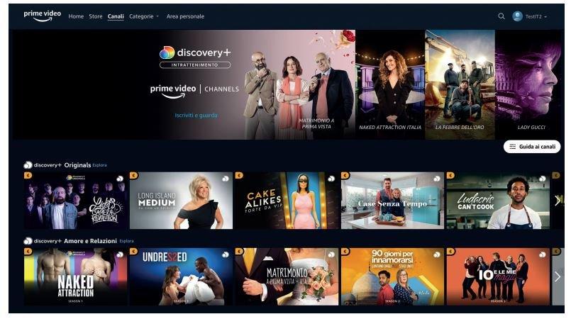 discovery+ da Giugno su Amazon Prime Video Channels in Italia