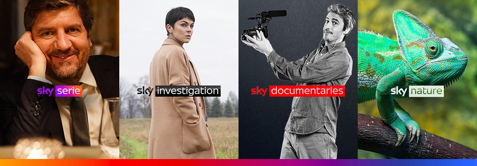 4 nuovi canali: dal 1 luglio Sky Serie, Sky Investigation, Sky Documentaries e Sky Nature
