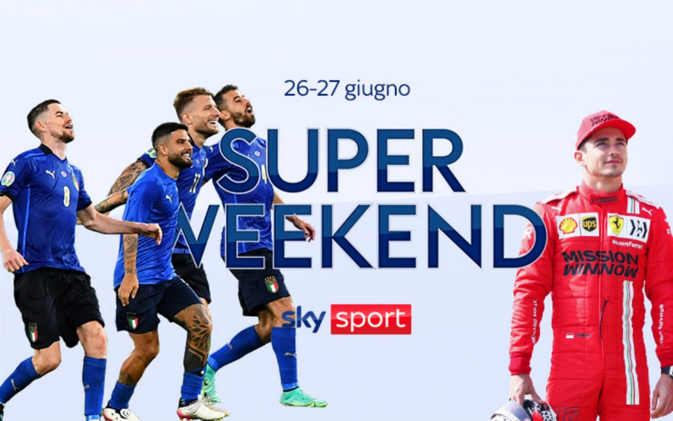 Sky Sport Super Weekend (26 e 27 Giugno) - Euro 2020, MotoGP Olanda, F1 Stiria, NBA