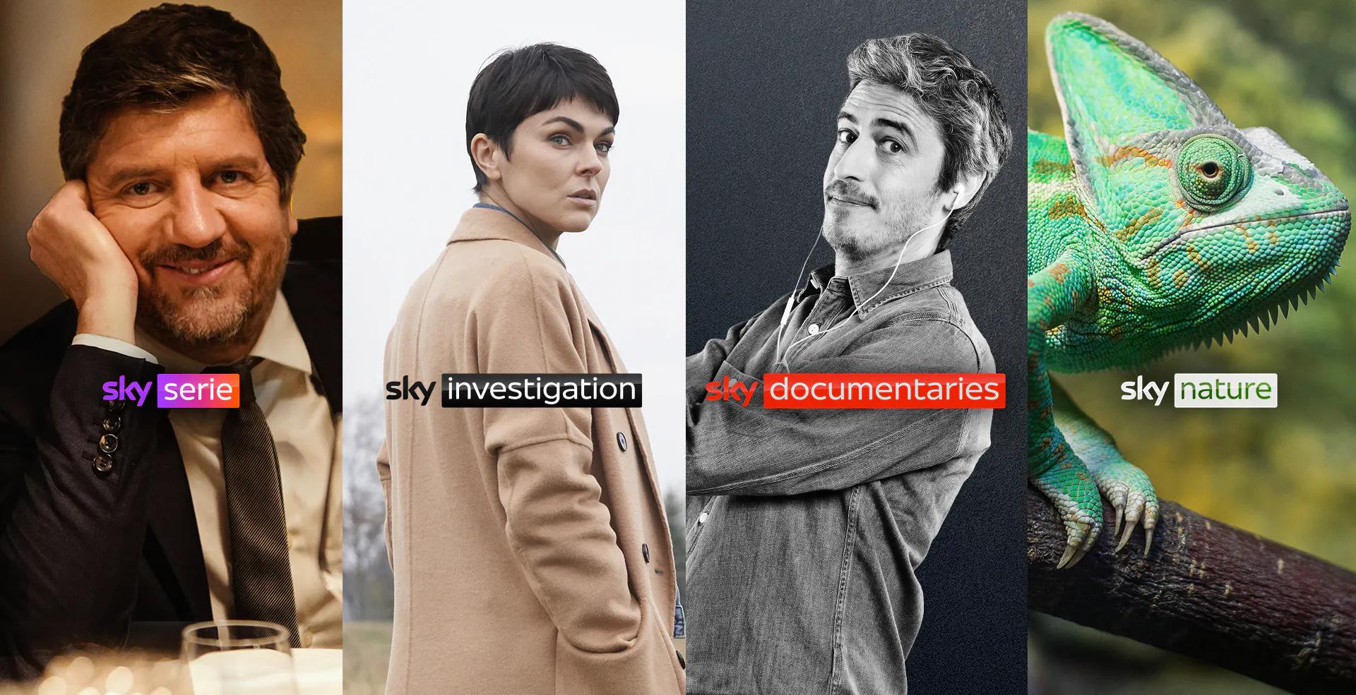 Da Luglio su Sky e NOW nuovi canali Serie, Investigation, Documentaries e Nature