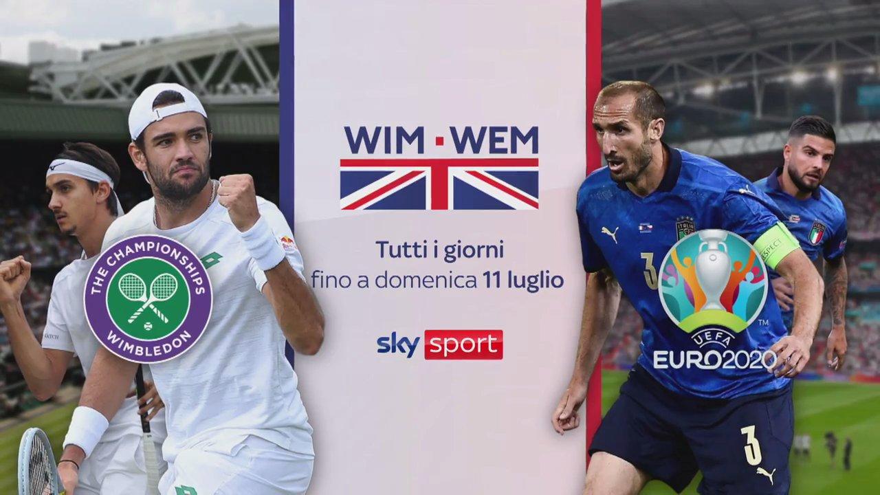 Da Wimbledon a Wembley, tifando Italia su Sky Sport