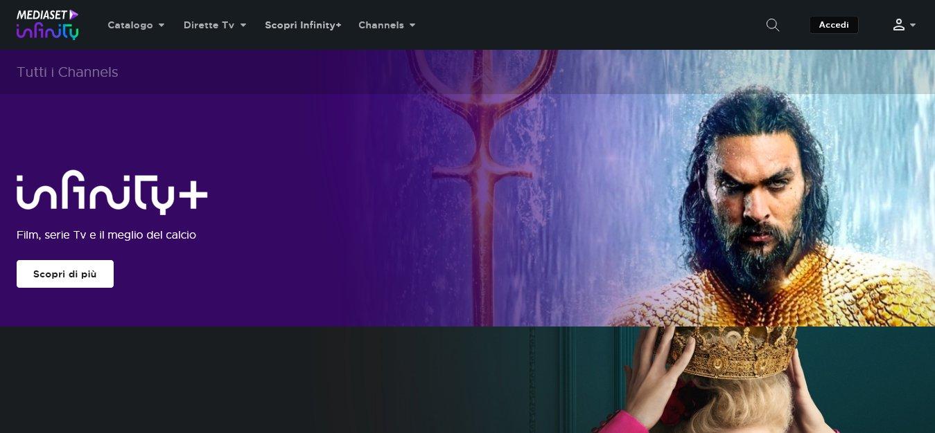 Sei channels verticali tematici arrrichiscono Mediaset Infinity
