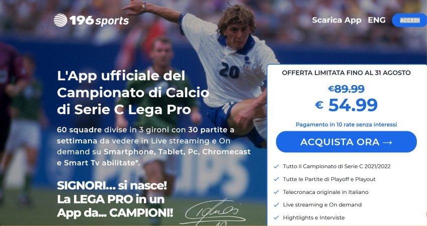 Tutte le partite di Serie C della stagione 2021-22 nel mondo con 196 Sports