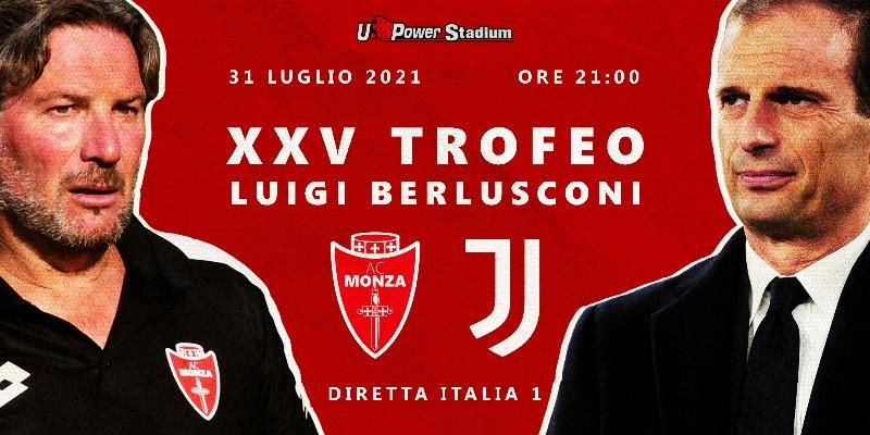 Calcio: Monza-Juventus nel Trofeo Berlusconi 2021, diretta esclusiva Italia 1