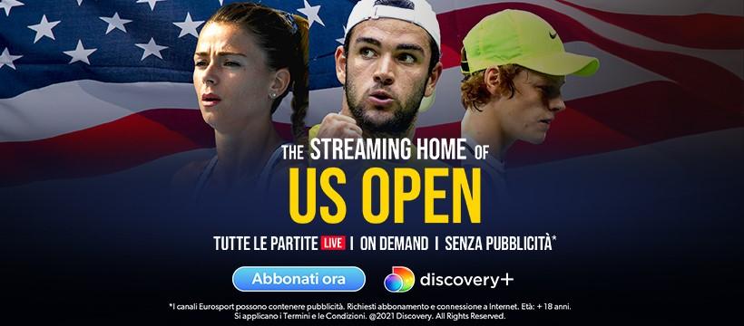Tennis, US Open 2021 in diretta esclusiva su Eurosport e Discovery+