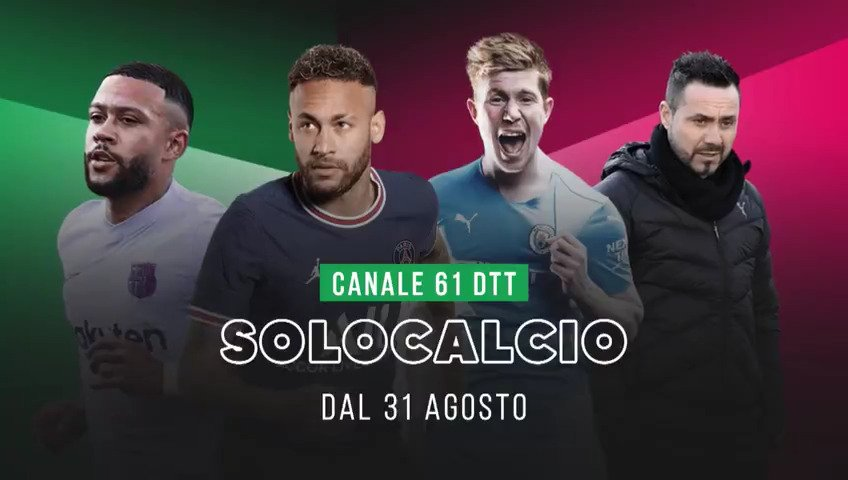 Sportitalia con SoloCalcio visibile in chiaro al canale 61 digitale terrestre