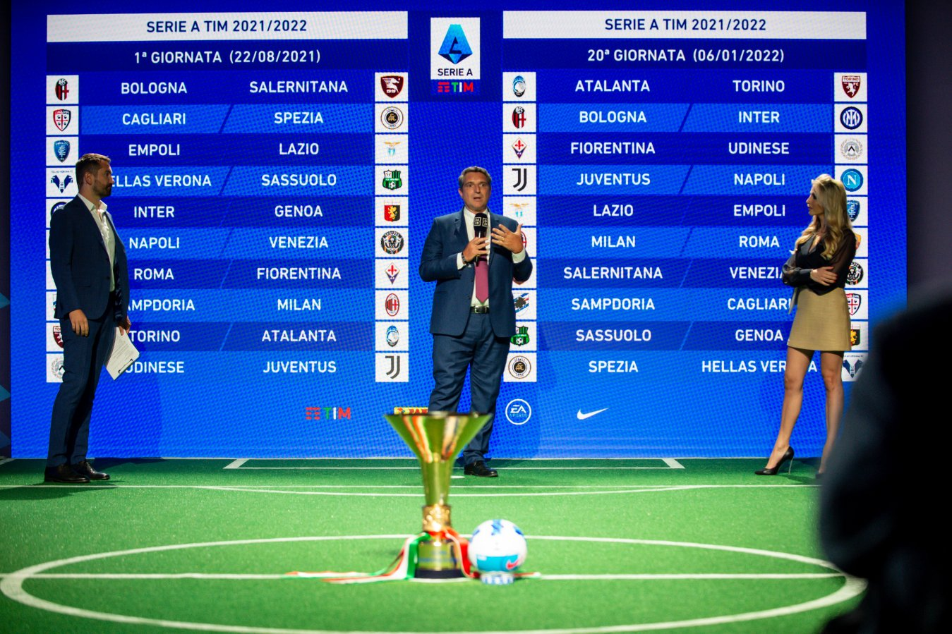Serie A 2021 - 2022, anticipi e posticipi 3a - 19a Giornata diretta tv DAZN e Sky Sport