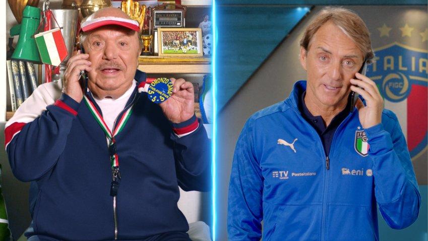 Nuovo spot TIMVision, insieme ad Oronzo Canà arriva Roberto Mancini