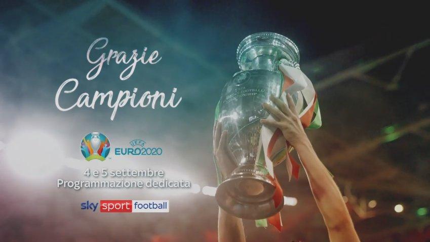 Grazie Campioni Euro 2020, un weekend azzurro su Sky Sport Football