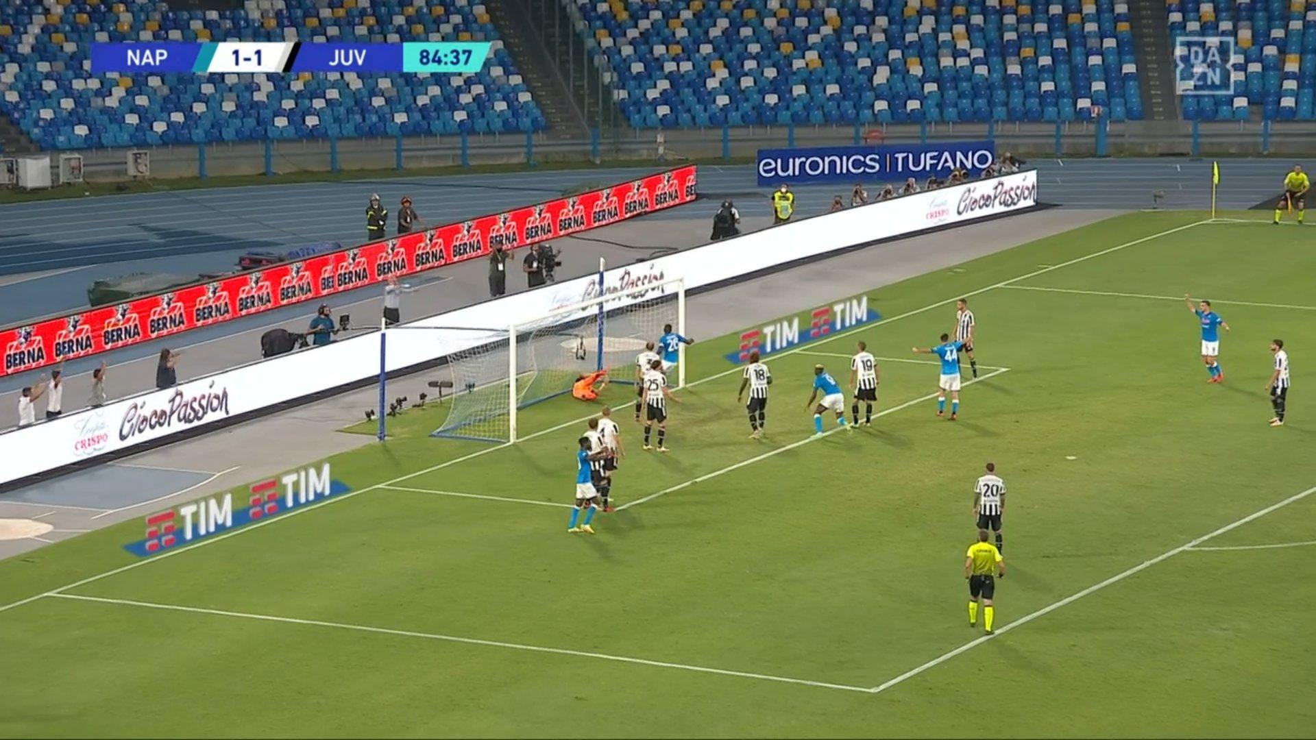 DAZN su problemi Napoli-Juventus: «Spike di due minuti, poi tutto regolare»