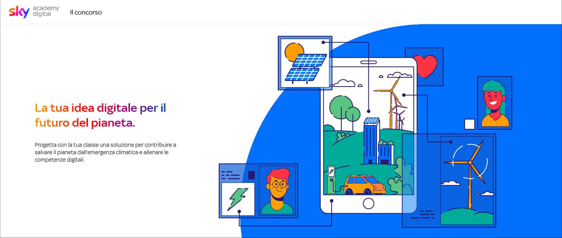 Sky Academy Digital rivolta agli studenti per competenze digitali ed emergenza climatica
