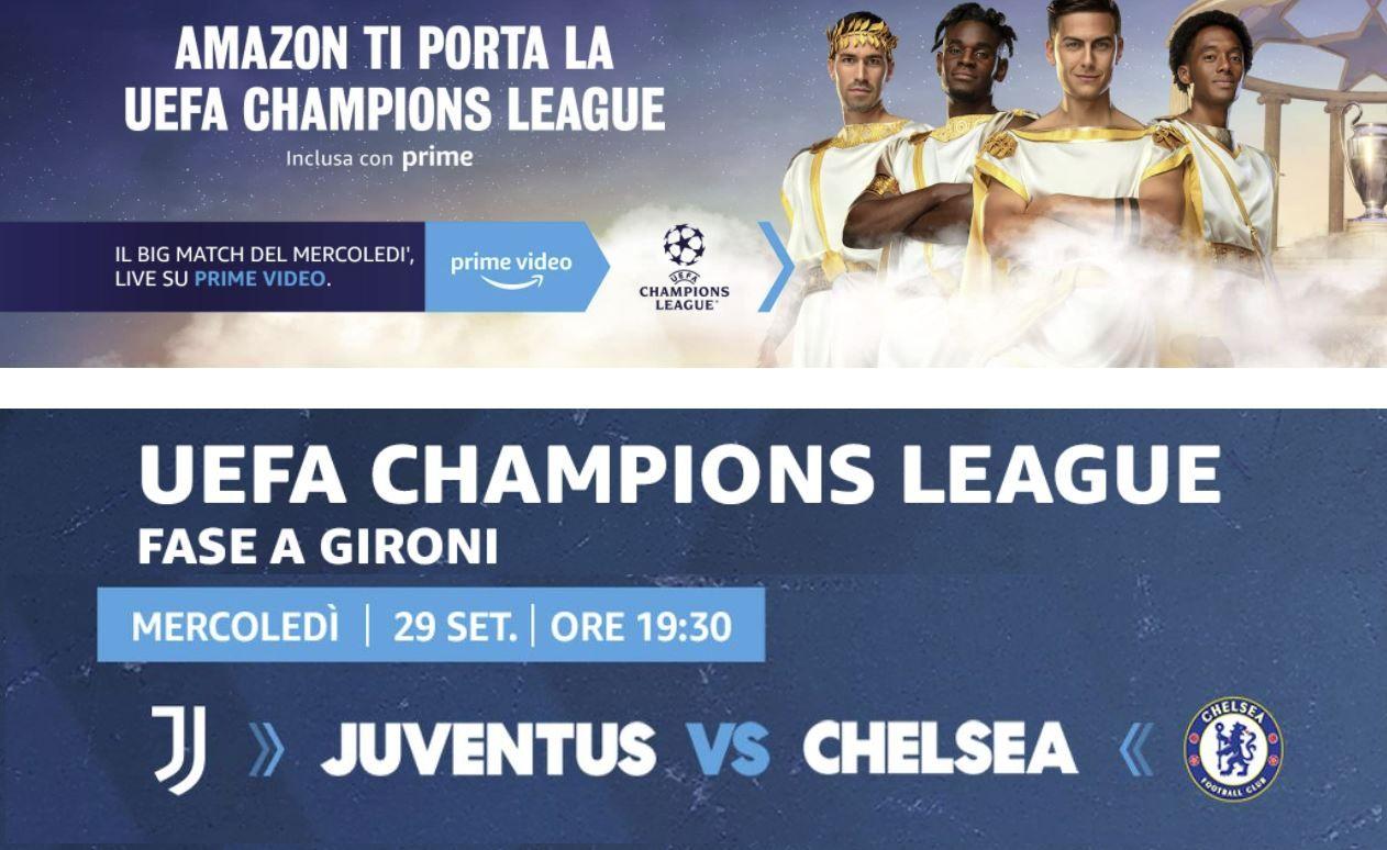 Champions League, Juventus - Chelsea (diretta esclusiva Amazon Prime Video Sport)