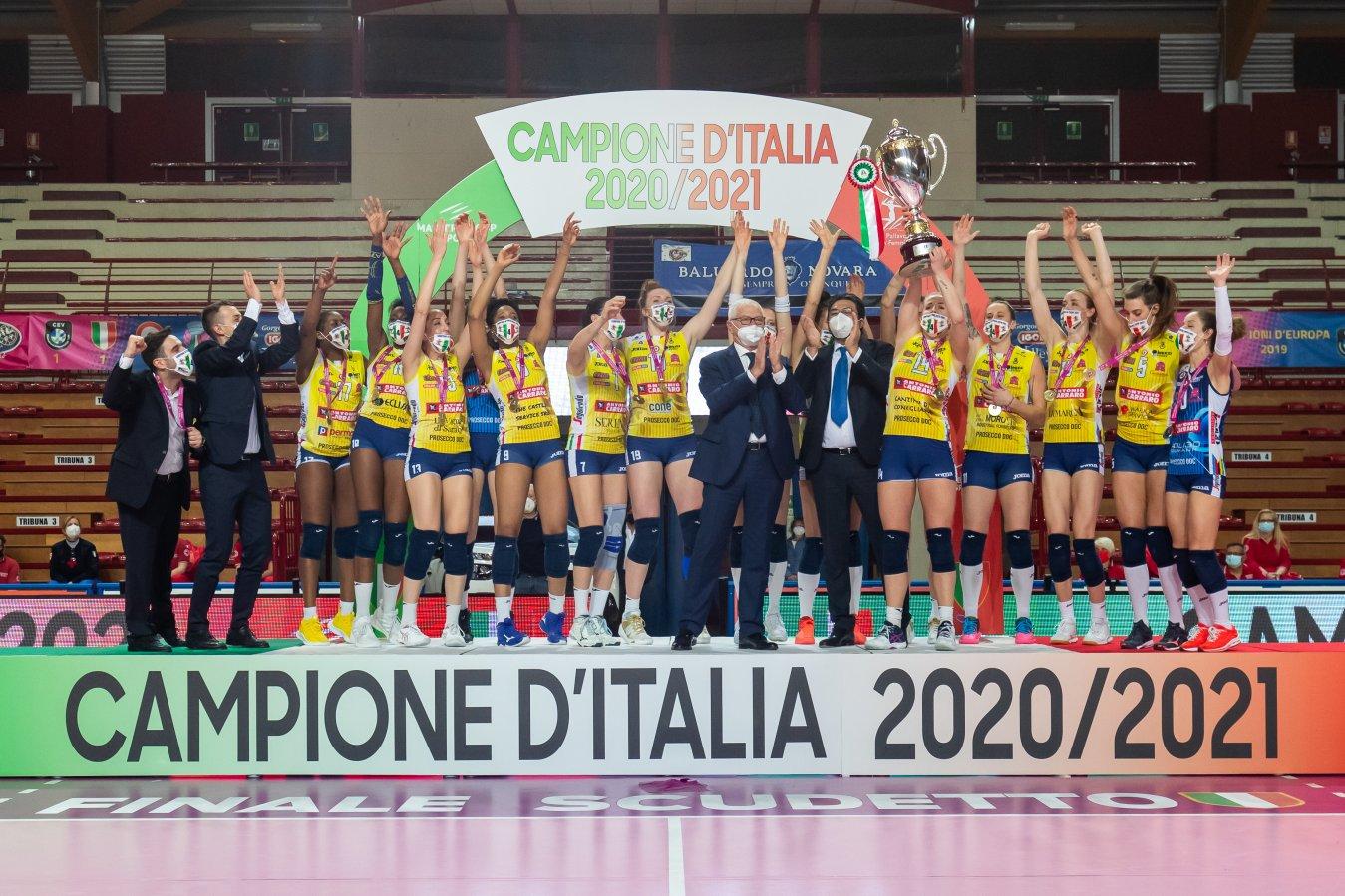 Su Sky il Campionato Italiano Volley Serie A1 Femminile per la stagione 2021/2022