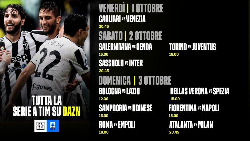 DAZN Serie A 2021/22 Diretta 7a Giornata, Palinsesto Telecronisti