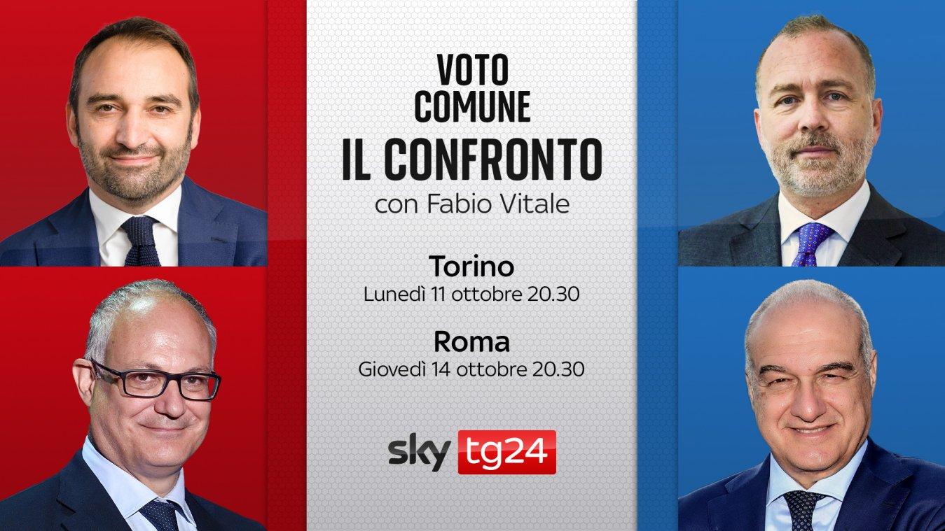 Ballottaggi, tornano i Confronti Sky TG24 | 11 Ottobre Torino, 14 Ottobre Roma