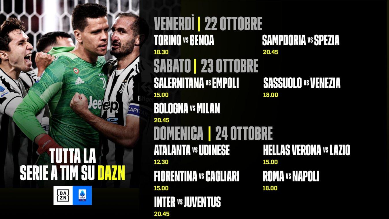 DAZN Serie A 2021/22 Diretta 9a Giornata, Palinsesto Telecronisti