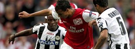 Champions League: Udinese-Arsenal (diretta tv Rai 1, SKY Sport, Mediaset Premium)